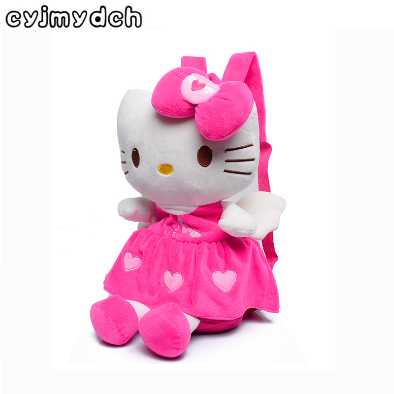 5a7cf23a2fdd Cyjmydch Soft Kity Plush Backpacks For Girls Dolls Stuffed Toys ...