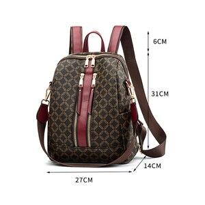 Image 3 - Sac à dos en cuir pour femmes, sacoche de styliste à épaule de marque, sacoche de voyage de luxe pour filles, 2020