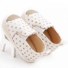 PU Leather Infant Toddler Polka Dots Crib Bebe Unisex Kids Children Prewalker Shoes Newborn First Walkers Autumn 0-1 Years
