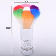 Nail Art Dust Remover Brushes Rhinestone Makeup Foundation Brush Cleaner UV Gel Powder Tools