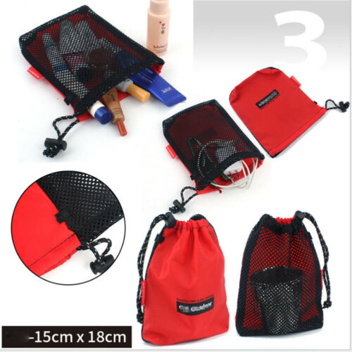 US 5PCS Outdoor Waterproof Oxford Bags Sack Pouch Camping Drawstring Stocking Storage Bag