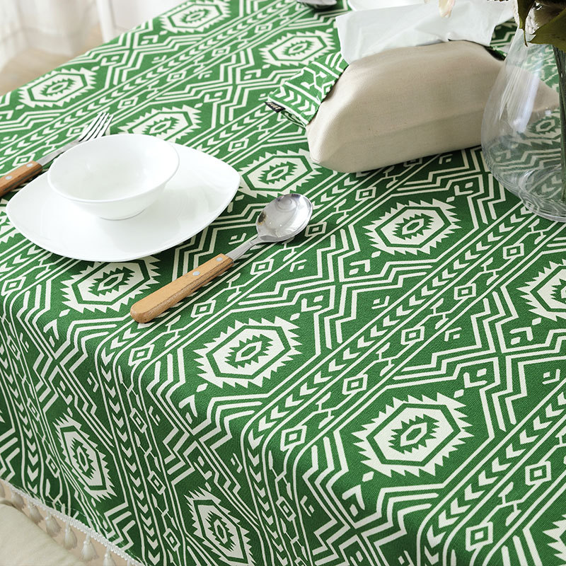 SunnyRain 1 Piece Cotton Indian Pattern Table Cloth Rectangle Tablecloth  For Dining Table Thick Table Cover  In Tablecloths From Home U0026 Garden On ...