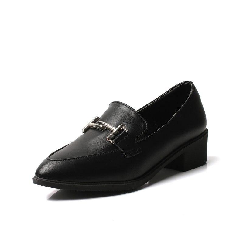 negro Formal Para Dedos Zapatos Mujeres 5 Señaló Las Nuevas Cm 2018 black Los De Verano Med Calzado 3 Oficina Pantalones Black Mujer Bombas Oxford black Metal Tacones Pies Bq4P1