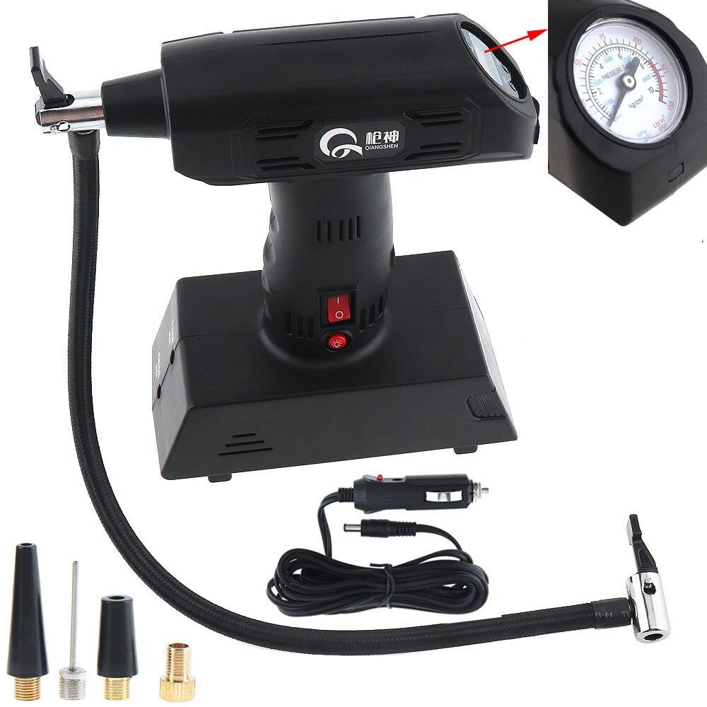 0 ~ 150PSI Portable 12V Car Air Compressor pump kompresor Tire Inflator Pump with 3M Power Cord and Cigarette Lighter Plug