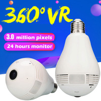 960P 3 0MP 360 Degree Bulb Light Wifi IP Camera Full View Fisheye Wireless Camera Home