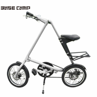 Bsaecanmp 14 16 Inch Universal Folding Bicycle Aluminum Alloy Bike Wheels Portable Bicycle Scooter For Kid