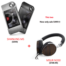 MSUR N350 Headphone + SHANLING M5 Portable Hifi DSD FLAC MP3 Music Player AK4490 AD8610 MUSE8920 Support DSD64 / DSD128