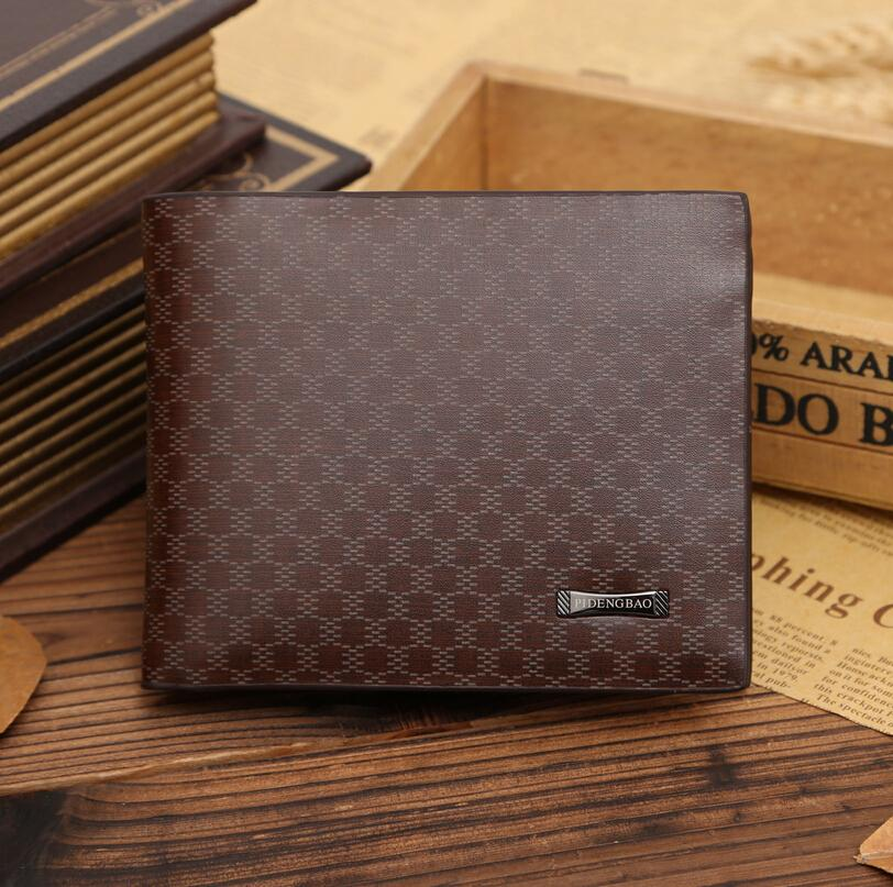 Fashion New Men Wallets Plaid Pattern Cross Brown Quality PU Leather Business Casual Card Holder Purse Wallet Free Shipping скобы fubag 12 9x14mm 5000шт 140118