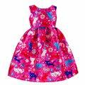 Girls dress Spring & Summer 2017 girl tutu dress cartoon cat graffiti sleeveless princess dress children attending party clothes