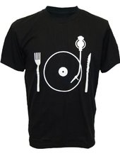 Vinyl for food men's t-shirt