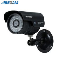 Asecam New Sony CCD 960H Effio 1200TVL CCTV black Bullet Analog Surveillance Outdoor Waterproof 36led infrared Security Camera