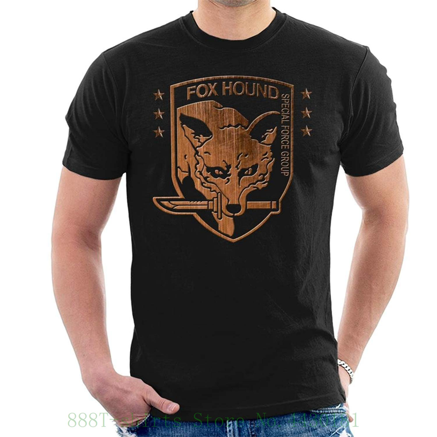 Foxhound Special Forces Group Metal Gear Solid Men's T Shirt Men's Fashion Black Cotton