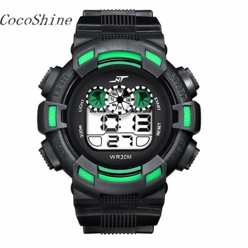 CocoShine A 728 Mens LED Digital Date Alarm Waterproof Rubber Sports Army Watch Wristwatch wholesale Free