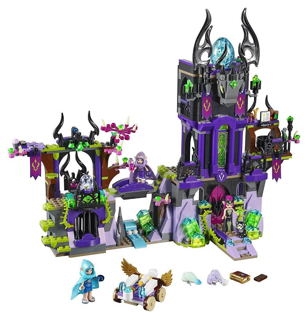 BELA Elves Series Ragana s Magic Shadow Castle Building Blocks Classic For Girl font b Kids