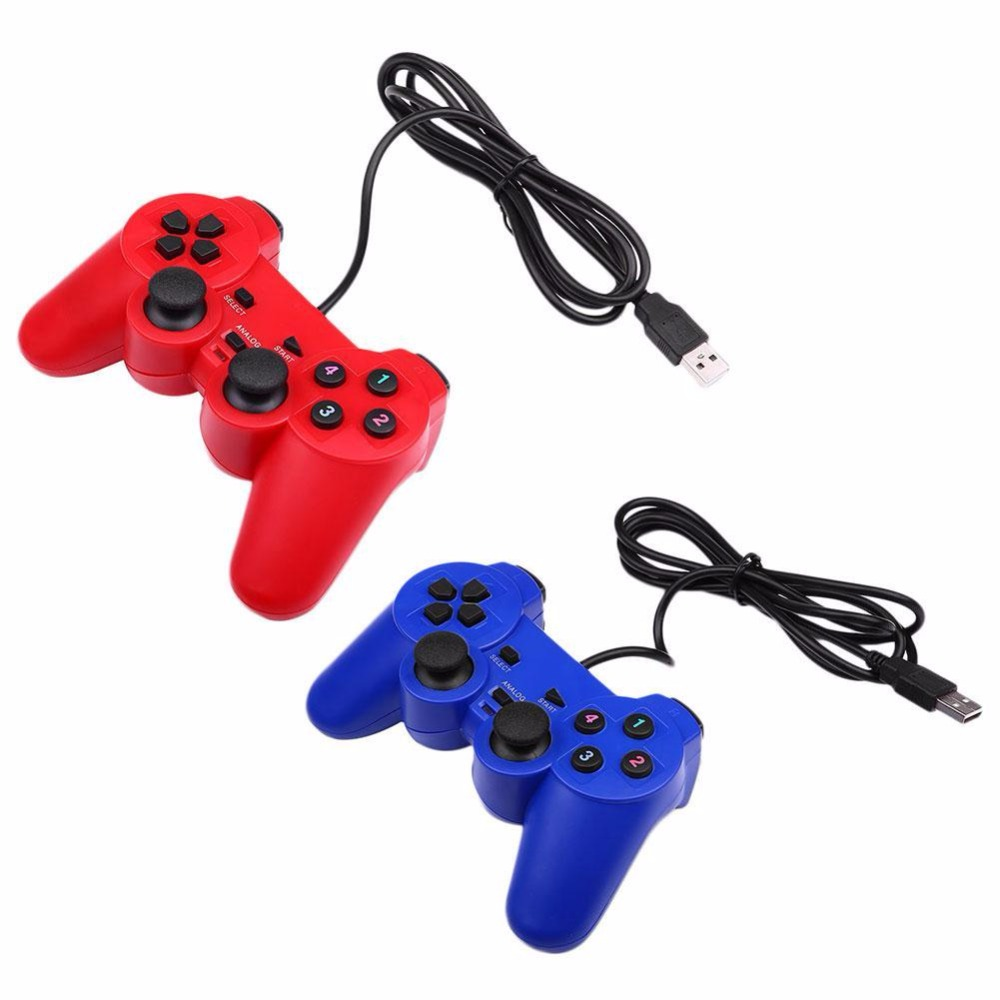 цена Gasky High Quality Real Shock Vibration USB Wired Controller Gamepad Joystick For Windows PC Professional Game Console Gamapads