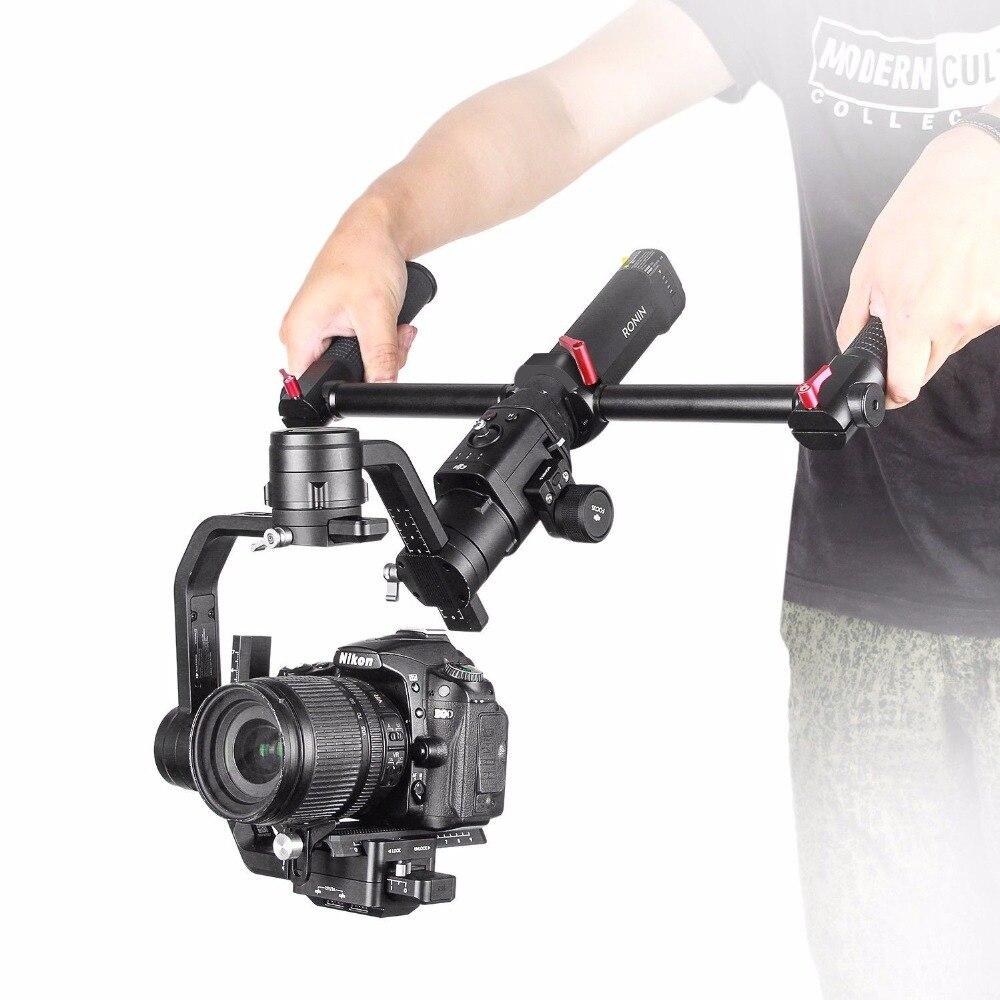 EACHSHOT Dual Handle Gimbal Grip Handheld Handlebar for DJI Ronin S Stabilizer Extended Handle Grips Handbar Mount