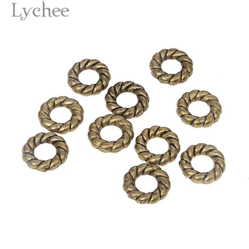 Lychee 10pcs Reggae Resin Plastic Fried Dough Twist Hair Braid Dread Dreadlock Beads Clips Cuff Headwear Jewelry Men Women