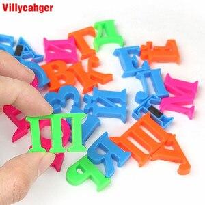 Image 3 - Juego de pegatinas magnéticas de 2CM para niños, rompecabezas con letras rusas, colores para nevera, juguete de aprendizaje, regalo educativo para niños, 33 unidades