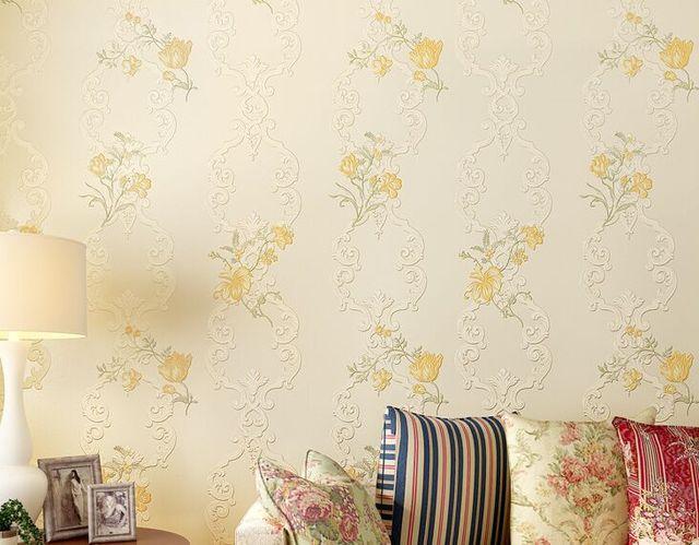 Wohnzimmer Tapeten Fein : Amerikanischen vintage 3d große blume und vögel fein tapeten