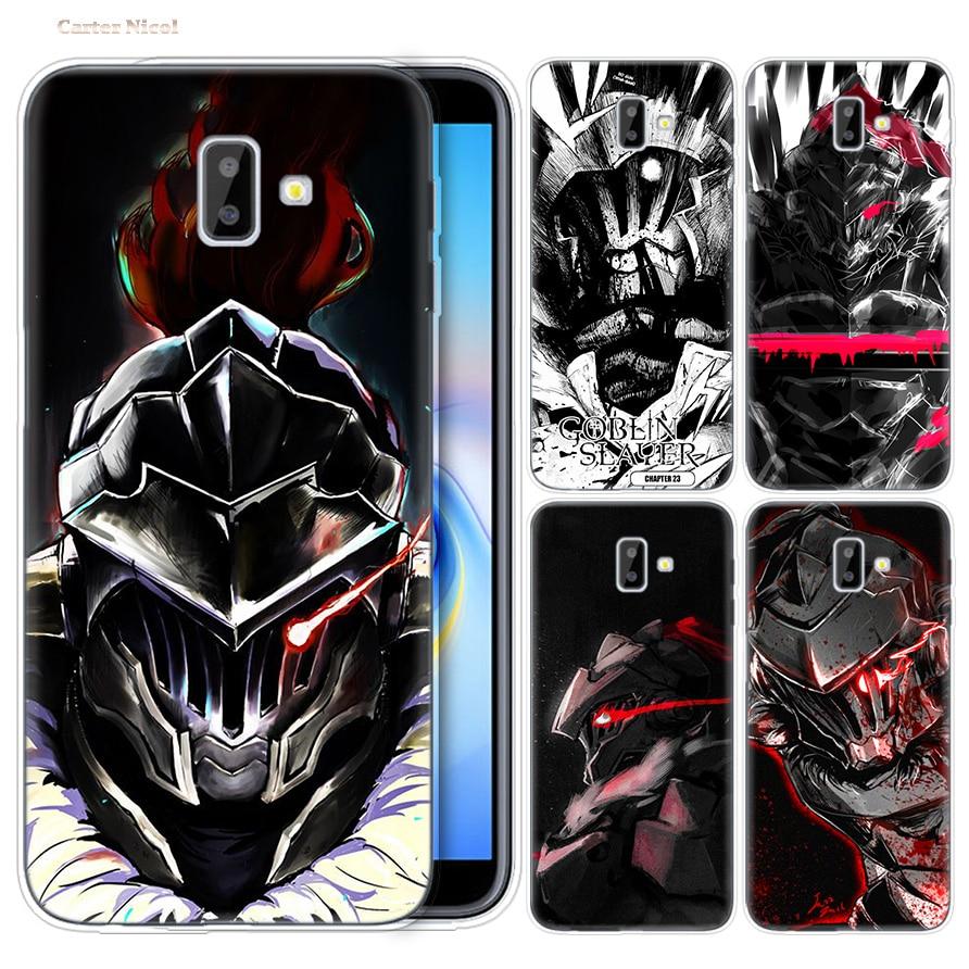Cases for Samsung Galaxy J4 J6 S10 Plus A7 A9 2018 Lite Note 9 8 Phone Cover J4+ J6+ Silicone Anime Goblin Slayer Cartoon