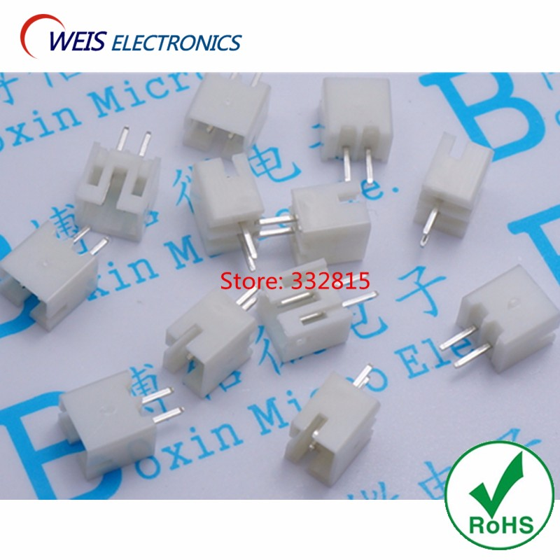 100PCS PH2.00-2A PH-2A 2.00MM 2.0MM 2PIN 2P 180 Degree STRAIGHT legs male connector Terminal Blocks Good quality Free shipping