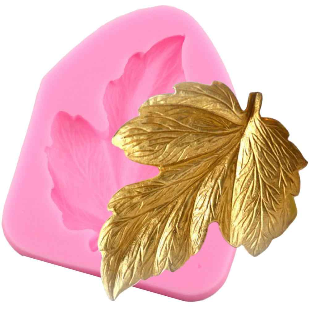 Leaves Shaped 3D Reverse Sugar Molding Fondant Cake Silicone Mold For Fimo Polymer Clay Molds Decoration Tools
