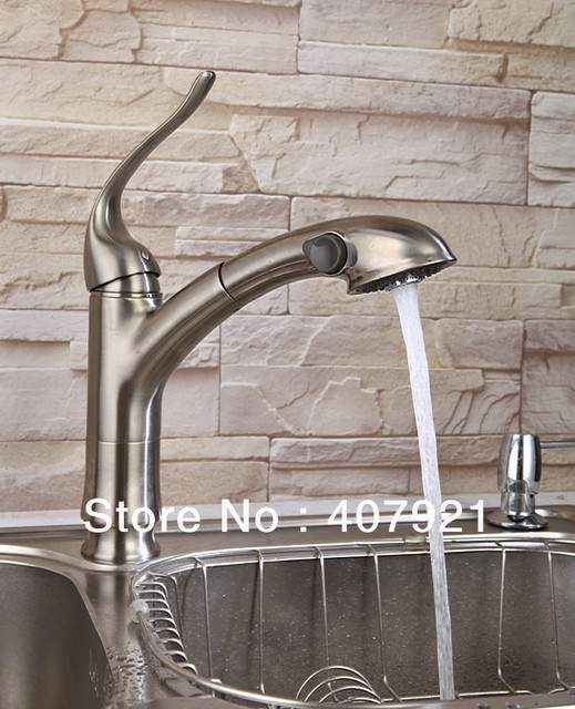 Free Shipping Brushed Nickel Stainless Steel Finish Pull Out