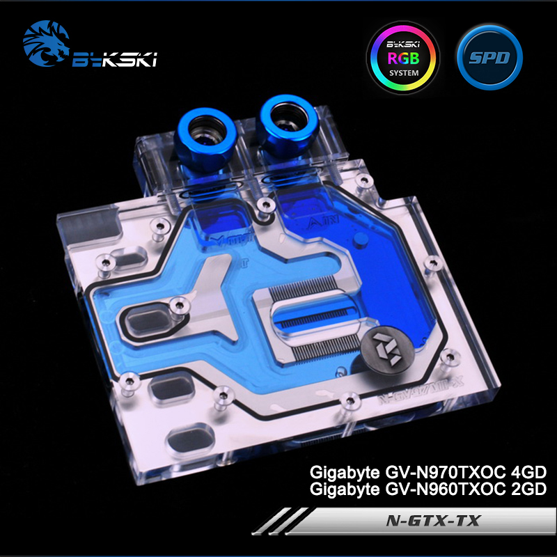 Bykski N-GV97MI-X Full Cover Graphics Card Water Cooling Block RGB/RBW/ARUA for Gigabyte GV-N970TXOC 4GD, GV-N960TXOC 2GD rotosound rs88ld black nylon flatwound bass strings