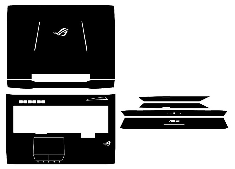 Special Leather Carbon fiber Vinyl Skin Stickers Cover guard For ASUS G752 G752VT G752VL G752VY G752VS G752VM 17.3-inch