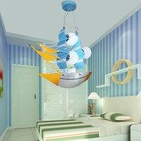 Детские подвесные светильники парусные лодки пиратские корабли корабль мальчиков номеров Спальня Декоративные Творческий мультфильм лам