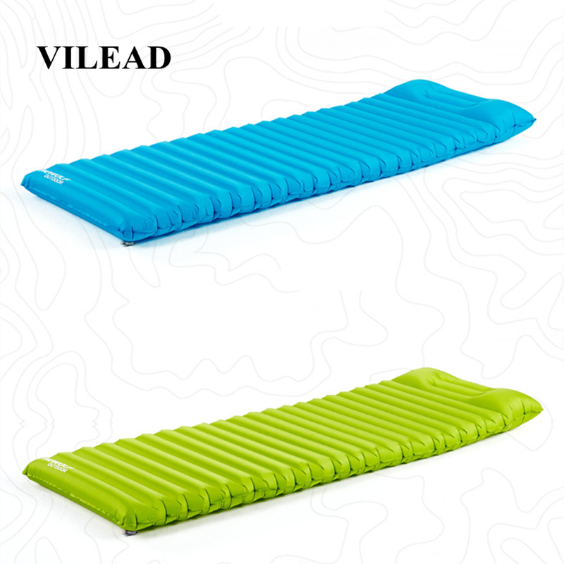 VILEAD Portable Air Mattress Ultralight Inflatable Cushion Sleeping Pad for Camping Hiking Backpacking Self Travel 180