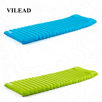 VILEAD Portable Air Mattress Ultralight Inflatable Cushion Sleeping Pad for Camping Hiking Backpacking Self Travel 180*60 cm