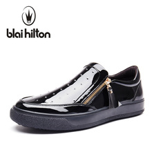 Blaibilton New Summer Side Zip Platform Luxury Loafers Men Shoes Genuine Leather Fashion Flats Mens Shoes Casual Designer SD5208