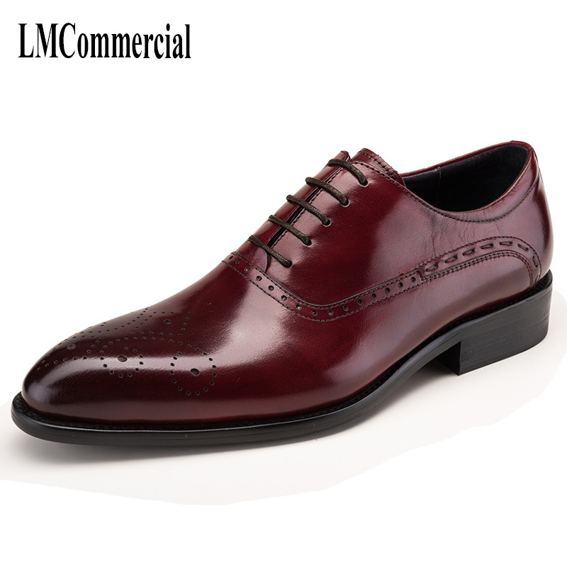 spring and autumn British retro men shoes all-match cowhide Genuine Leather Shoes Men,Lace-Up Business Men Shoes,Men Dress Shoes 2017 men shoes fashion genuine leather oxfords shoes men s flats lace up men dress shoes spring autumn hombre wedding sapatos