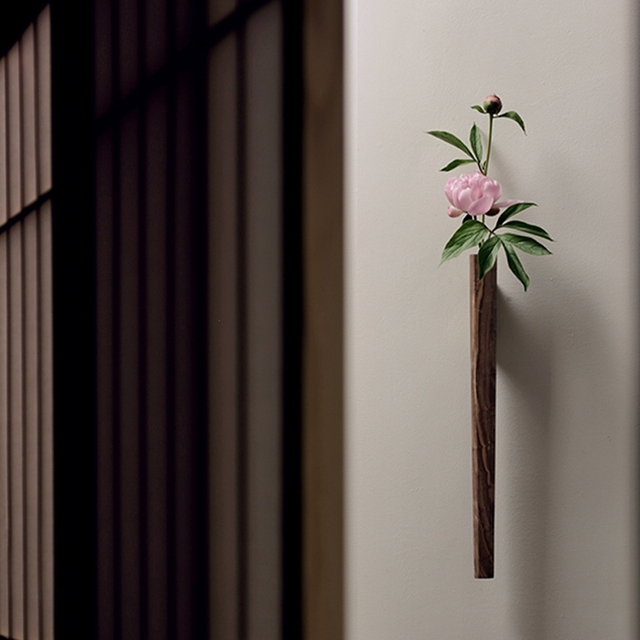 Nordic Handmade Solid Wood Wall Flower Vase 5