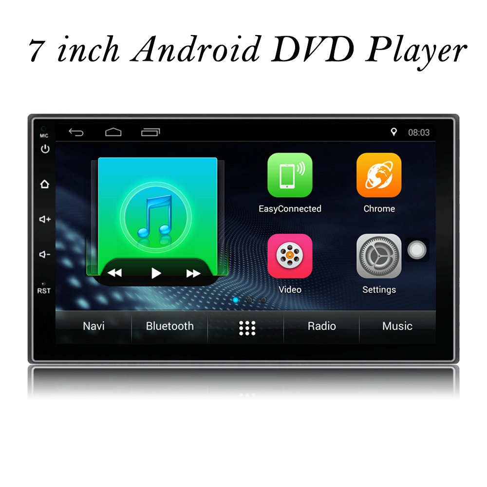 2 Din Android Car Radio Stereo 71024*600 Universal Car Player GPS Navigation Wifi Bluetooth USB Radio Audio Player(No DVD)