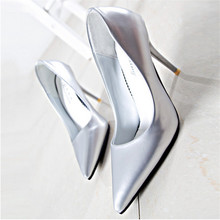 2016 NEW Spring summer Pumps shallow mouth shoes style thick high heel zapatos mujer fashion shoes 9.5cm shoes free shipping
