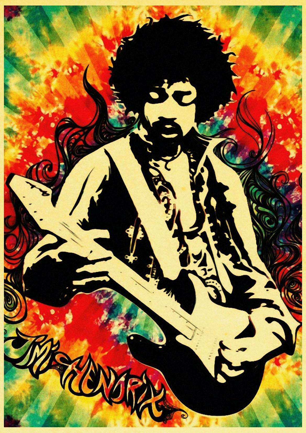 220 Jimi hendrix Art Wall Cloth Poster Print