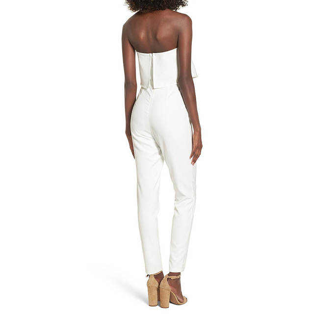 93c72342b488 MUXU sexy white jumpsuit women elegant backless europe and the united  states jumpsuits rompers ladies jumpsuits