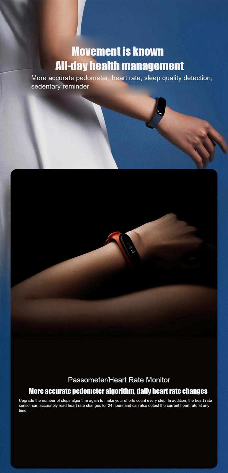 "Original Mi Band 3 Fitness Tracker Smart Bracelet 0.78""Color Screen 5ATM Waterproof Heart Rate Monitor Global Smartband In Stock 27"