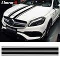 Edition 1 Stil Bonnet Stripes Hood Aufkleber Motor Abdeckung Aufkleber für Mercedes Benz EINE GLA GLC CLA 45 AMG W176 c117 W204 W205 C63