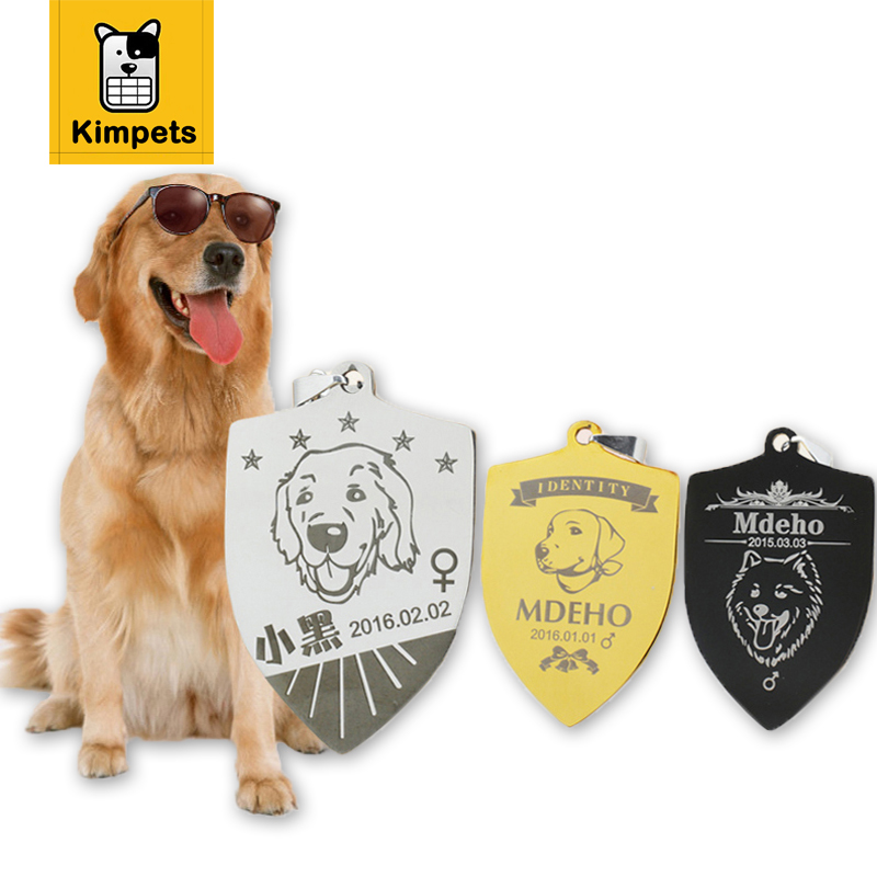 ᐂ2017 new free engraving personalized pet tag identification