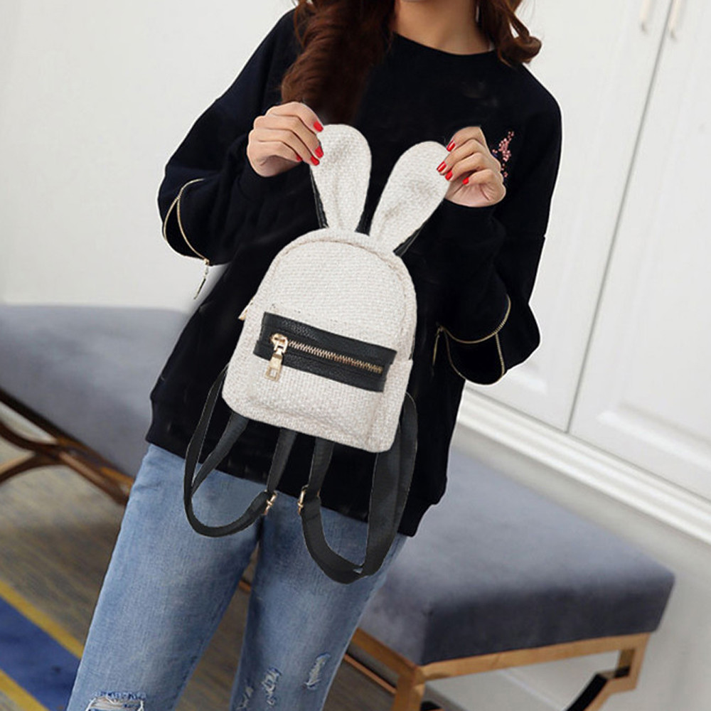 Fashion Girl Woven School Bag Backpack Satchel Women Trave Shoulder Bag MAY30