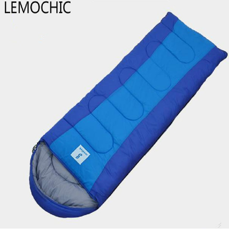 High quality outdoor camping travel envelope style adult thickening autumn winter cotton thermal portable emergency sleeping bag aotu outdoor sleeping bag adult thermal autumn winter envelope hooded travel camping water resistant thick sleeping bag