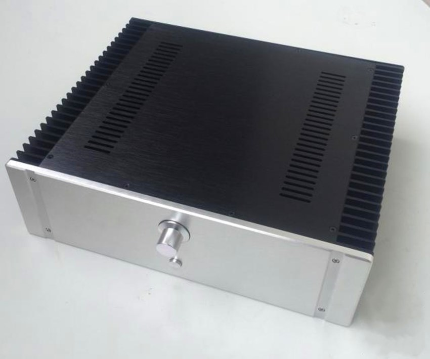 QUEENWAY NEW4313 CNC Full Aluminum chassis Amplifier Case Preamp Enclosure DAC Box 430mm* 130mm *361 mm 430* 130*361 mm 4308 rounded chassis full aluminum enclosure power amplifier box preamplifier chassis