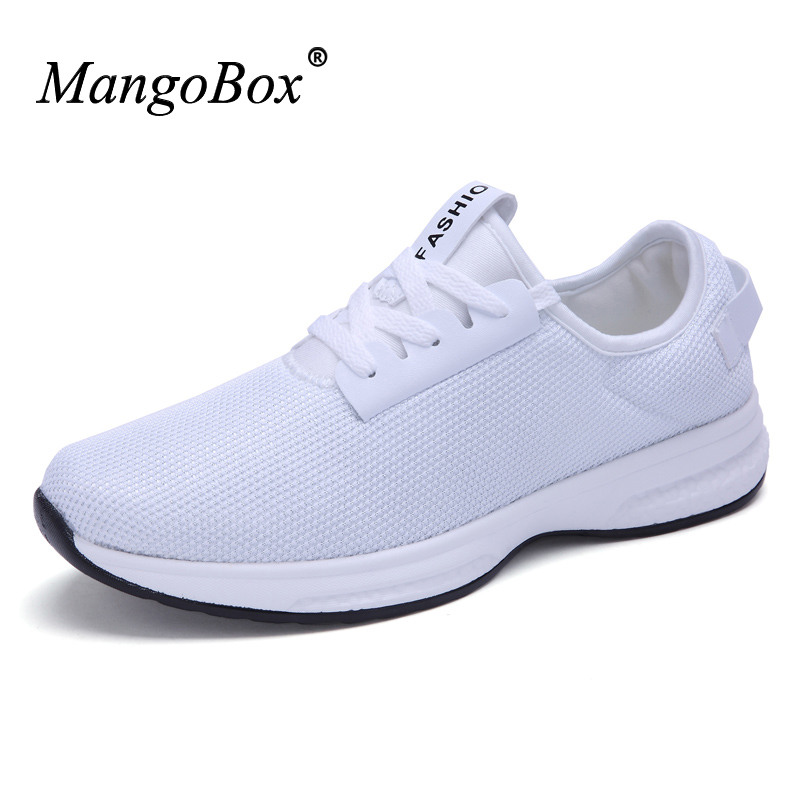 2016 Men Running Shoes White Low Top Sneakers Black Sport Trainers Autumn Athletic Sneakers Breathable Sport Shoes Jogging Shoes