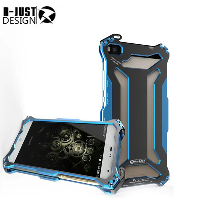 R JUST huawei p8 lite Slim metal aluminum Shockproof Cover case for huawei p8 lite outdoor