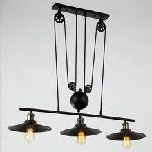 2015 Новый Подъем подвесные светильники D26cm черный lanpshade с зеркалом Современный минималистский Шкив подвесные светильники блеск pendente де teto