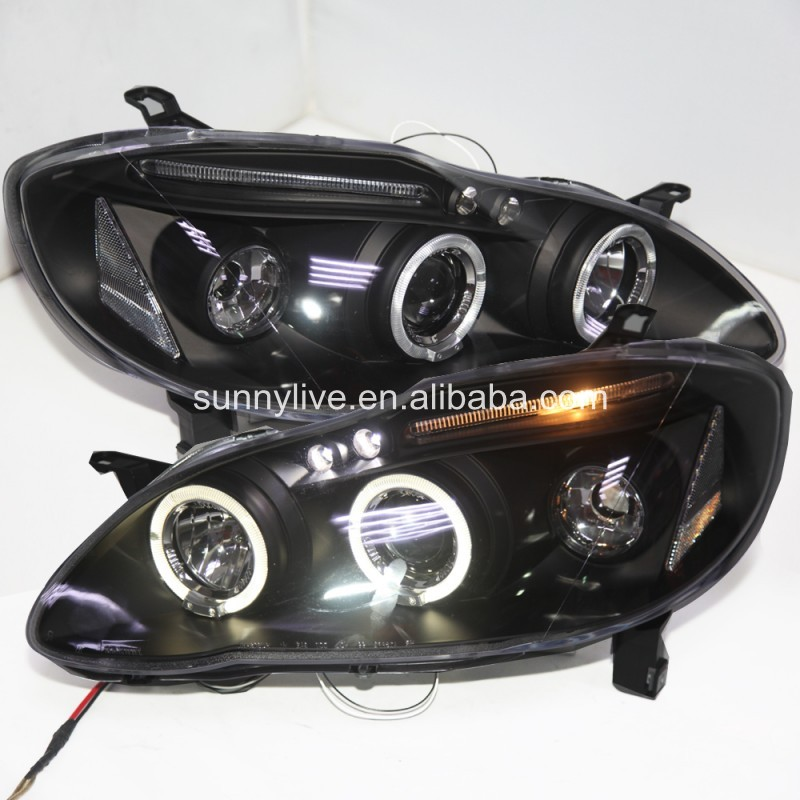 For TOYOTA Corolla Altis LED Angel Eyes head lamp 2001-2006 year SOJY