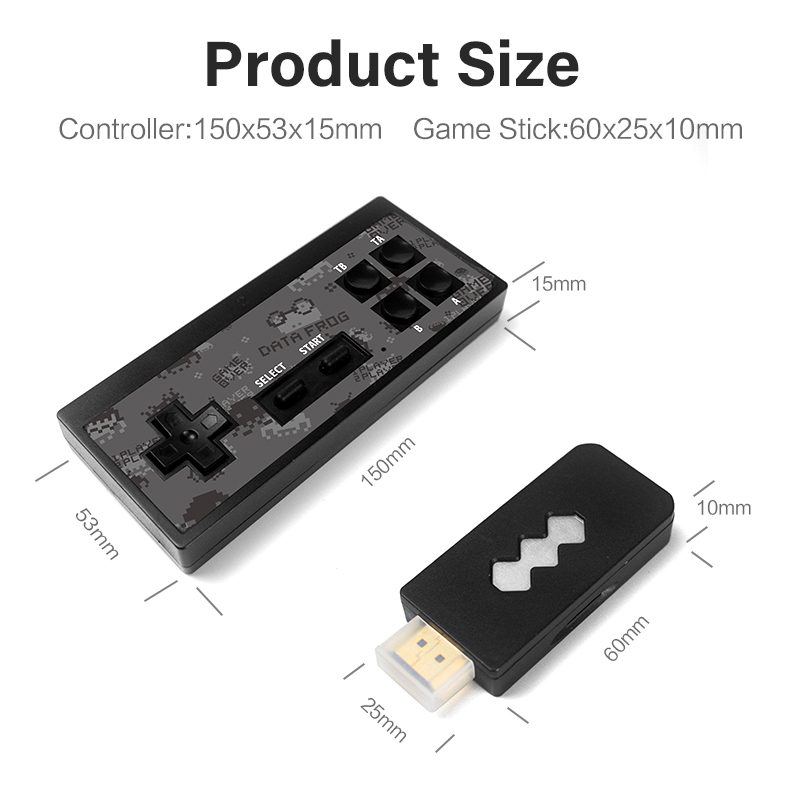 Image 5 - DATA FROG 4K HDMI Video Game Console Built in 568 Classic Games Mini Retro Console Wireless Controller HDMI Output Dual Players-in Video Game Consoles from Consumer Electronics